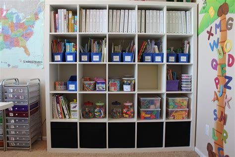 Ikea Expedit Bookcase Desk Our Schoolroom Ala Ikea Confessions Of A Homeschooler