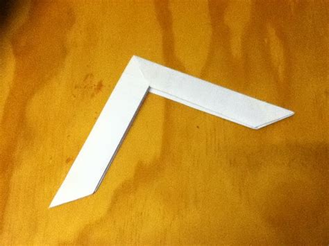 How To Make A Boomerang Origami - how to make a paper boomerang an origami boomerang