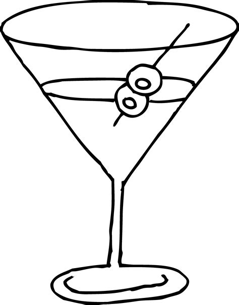 cocktail clipart black and white free martini glass clip art pictures clipartix