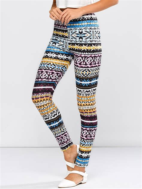 tribal pattern jeans high waist skinny tribal pattern pants in colorful