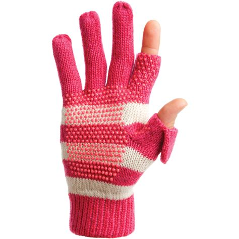 womens knit gloves freehands s stripe wool knit gloves pink 22152 b h