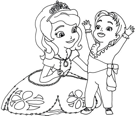 imagenes para pintar sofia princesa sofia para colorear pintar e imprimir