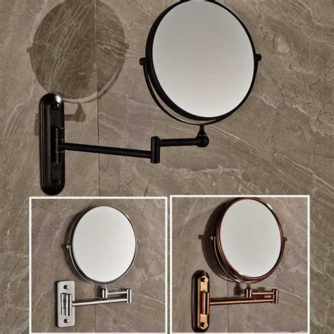 wall mounted bathroom makeup mirror solid brass 8 inches magnifying free shipping 8 quot wall mounted round magnifying bathroom