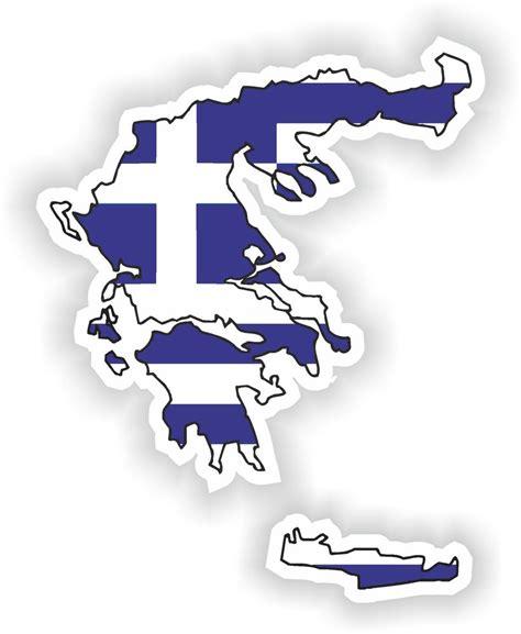 Aufkleber Motorrad Silhouette by Griechenland Hellas Landkarte Flagge Aufkleber Silhouette