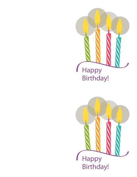 Happy Birthday Card Printable Template by 40 Free Birthday Card Templates Template Lab