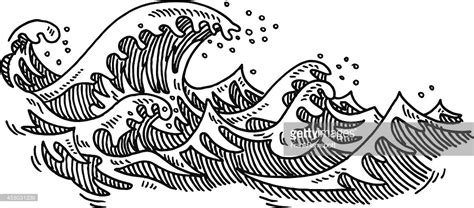 wave pattern line drawing dessin des vagues de loc 233 an clipart vectoriel getty images