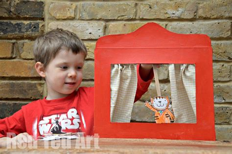 How To Make A Puppet Out Of A Paper Bag - cereal box puppet theatre with poppy cat ted s