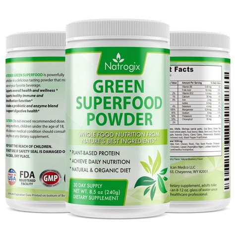 buy natrogix green superfood dietary supplement gluten