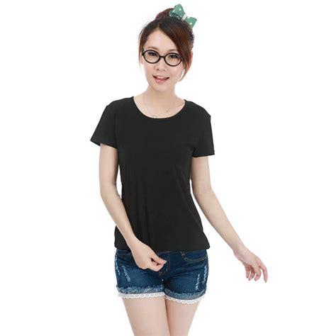 Kaos Baju Tshirt Style kaos polos katun wanita o neck size s 86101 t shirt black jakartanotebook