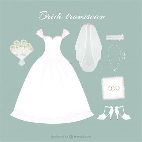 bajar imagenes de vestidos de novia gratis vestido de novia dibujado a mano con bonitos accesorios