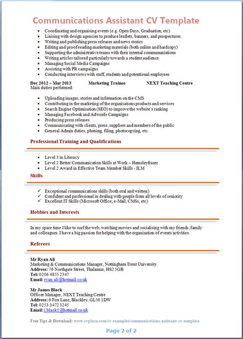 Resume Exle Communications Assistant Content Planning Template Page 2 Calendar Template 2016
