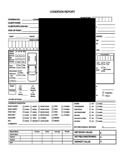 Truck Condition Report Template vehicle auction condition report for or light truck