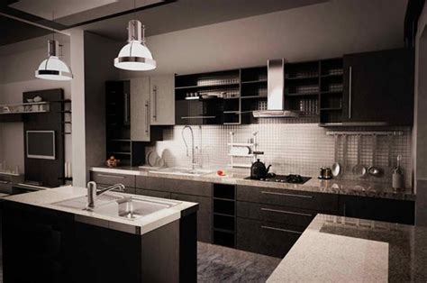 Contemporary Kitchen Island Ideas by 15 Contemporary Kitchen With Black Cabinets Rilane