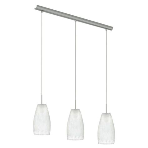Eglo Island Lighting Eglo Crash 3 Light Matte Nickel Hanging Island Light 20598a The Home Depot