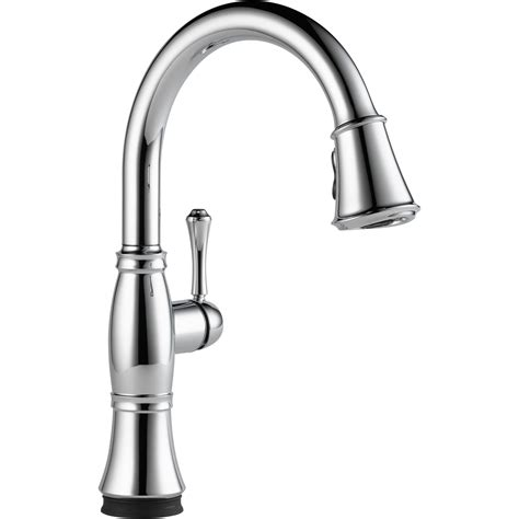 delta pull down kitchen faucet the cassidy single handle pull down kitchen faucet with