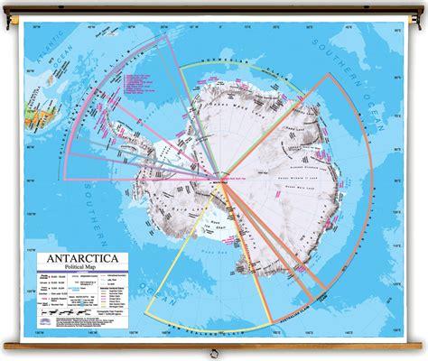 antarctica political map advanced antarctica political classroom map on roller