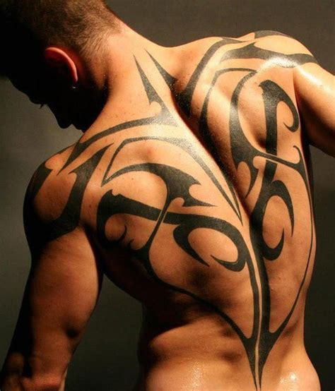 erotic tattoos a athletic shows a tribal design that