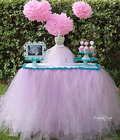 Diy Tutu Table Gorgeous Decorating by No Sew Tulle Table Skirt Catch My