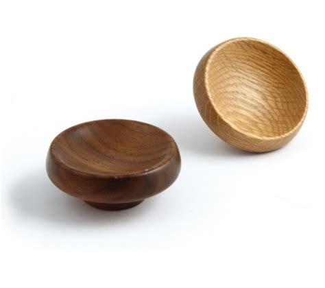 Walnut Knob by Cadogan Walnut Oak Wood Knob 67mm Dia Lacquered East