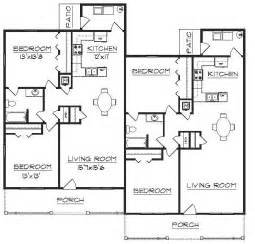 Floor Plan Of A Duplex by Duplex Plan J2630d