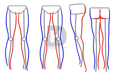 Drawing Legs by How To Draw Legs Step By Step Drawing Guide By
