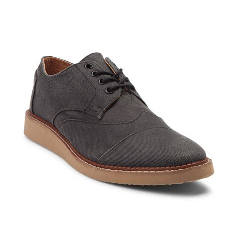mens casual shoes mens toms brogue casual shoe gray 353954