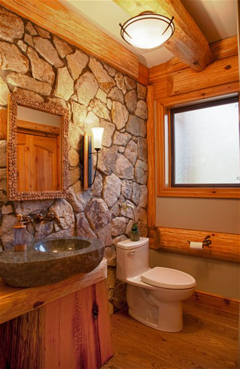 log bathroom bathrooms in log homes