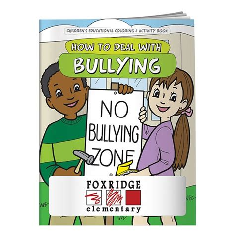no bullying books promotional coloring book how to deal with bullying