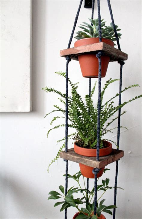 Diy Hanging Plant Holder - diy project tiered hanging pots design sponge