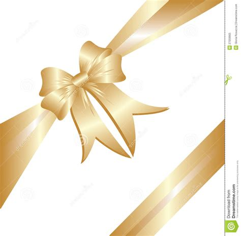 gold ribbon christmas gift vector eps 10 royalty free