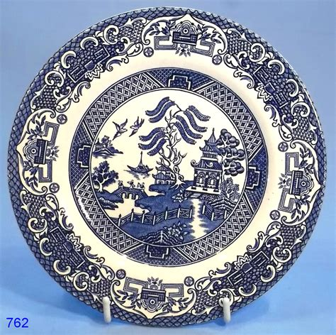 willow pattern image english ironstone willow pattern tea plate sold