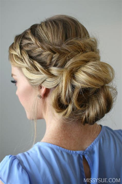updo hairstyles cost 1000 ideas about fishtail updo on pinterest messy