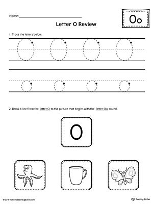 letter o worksheets trace letter o and connect pictures worksheet 1376