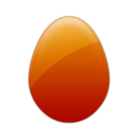 orange easter egg clipart best