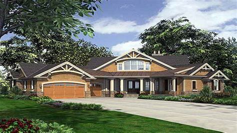 Single Story Craftsman House Plans Single Story Craftsman House Plans Dramatic Craftsman