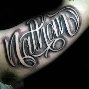 90 script tattoos for men   cursive ink design ideas