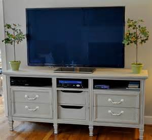 repurpose a dresser into a tv stand crafty 2 the