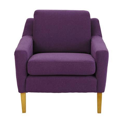 fauteuil violet fauteuil en tissu violet mad maisons du monde