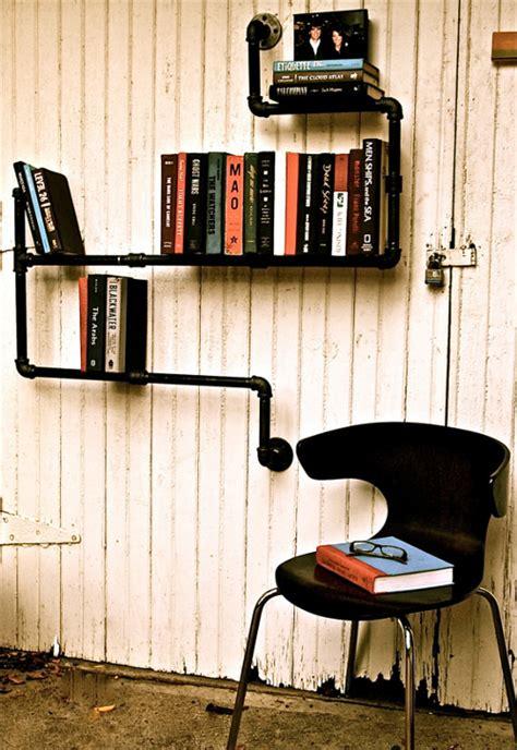 estante para libros con pvc decora por un tubo tut 233 ate