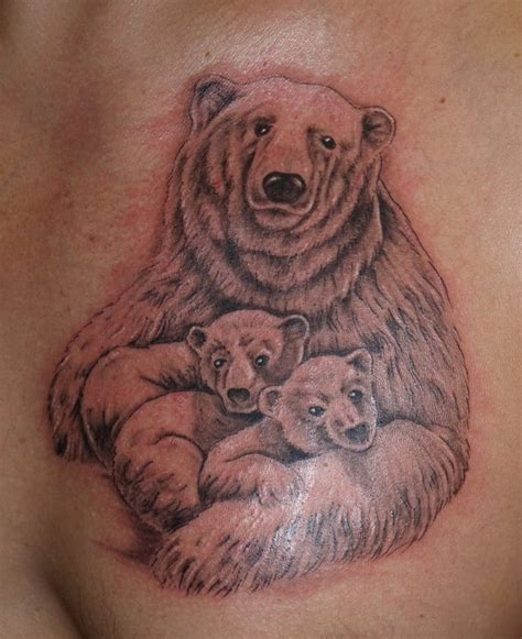 polar bear tattoo with cub creativefan