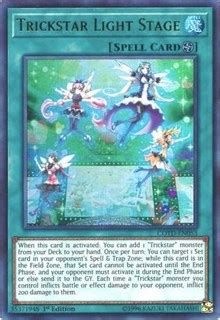 Yugioh Trick Box trickstar light stage code of the duelist yugioh