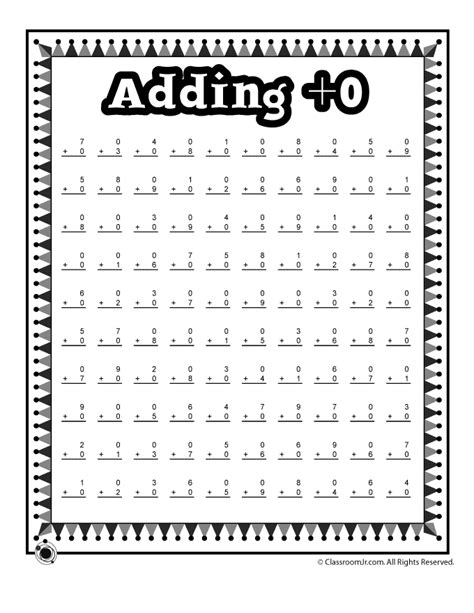 Adding 0 1 2 Worksheets by Adding 0 Math Worksheet Woo Jr Activities
