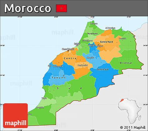 morocco map coloring page free political simple map of morocco single color outside