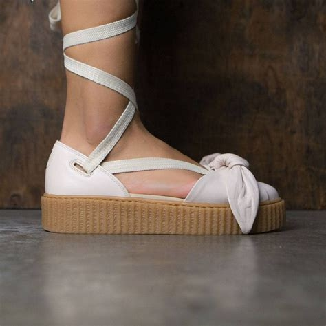 Bow Creepers Sandals Brown x fenty by rihanna bow creeper sandal pink pink