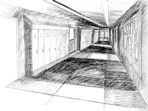 Drawing 1 In College by Hallway Drawing 2 D St Francis High