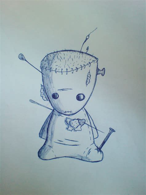 cute voodoo doll drawings cute voodoo doll by the inside fischer on deviantart