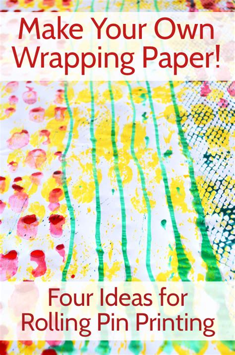 Make Your Own Gift Wrapping Paper - childhood101 learning growing