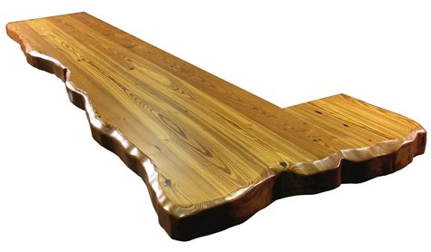 natural wood bar top natural edges wane edges on custom wood countertops and table tops