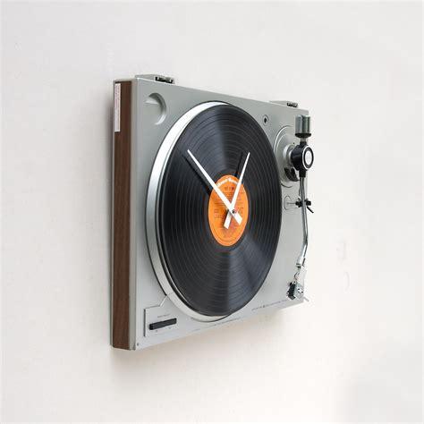 coolest clocks cool turntable wall clock shockblast