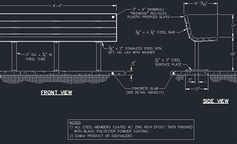 wood bench detail bench standard wood cad files dwg files plans and